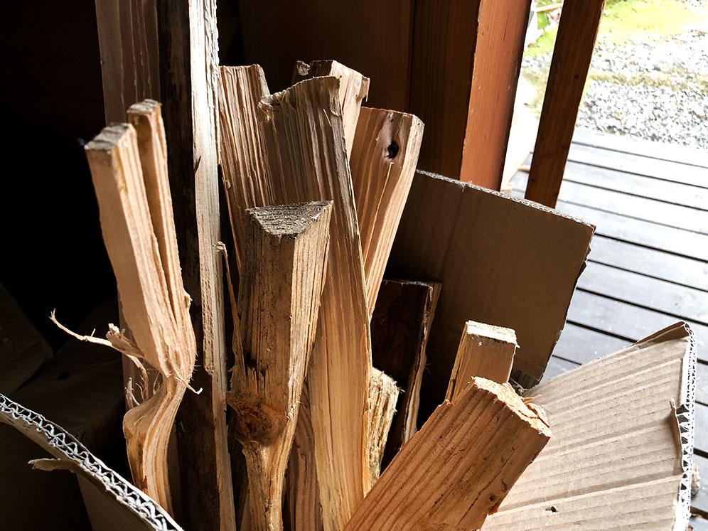 焚付用の薪