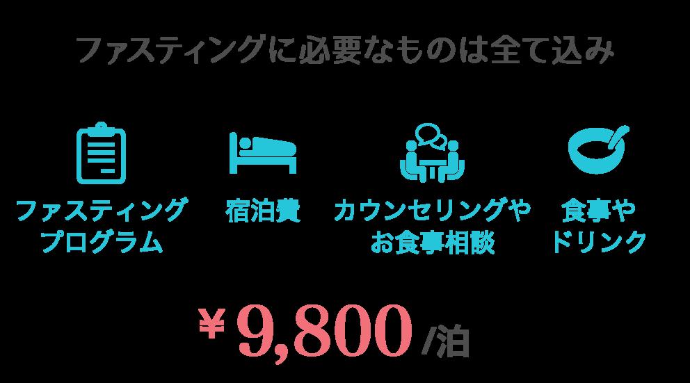 断食施設の宿泊価格
